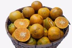 Mandarina de Mot de la explosión A pesar de su nombre común, es una mandarina del reticulata de la fruta cítrica de la especie y  foto de archivo