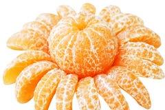 Mandarina en forma de la flor foto de archivo