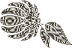 Mandarina estilizada monocromática Stock de ilustración
