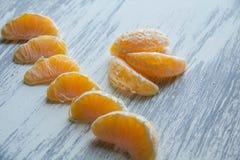 Mandarina madura Imagenes de archivo