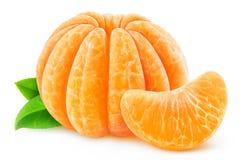 Mandarina o clementina pelada imagenes de archivo