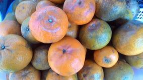Mandarina o fondo fresca de la fruta de la mandarina Fotografía de archivo libre de regalías