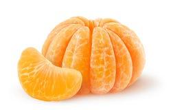 Mandarina pelada fotos de archivo