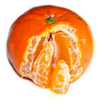 Mandarina pelada fotografía de archivo