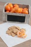 Mandarina y gingebread fotografía de archivo libre de regalías