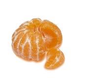 Mandarina y segmento aislados fotos de archivo libres de regalías