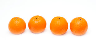 4 Mandarinapelsiner Royaltyfri Foto
