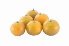 6 mandarinas Foto de archivo