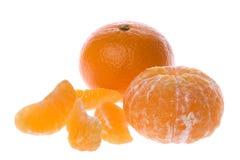 Mandarinas aisladas Foto de archivo