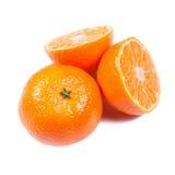 Mandarinas aisladas en blanco Imágenes de archivo libres de regalías