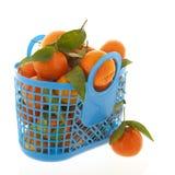 Mandarinas aisladas sobre el fondo blanco Foto de archivo