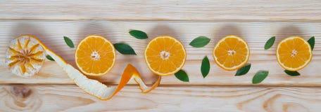 Mandarinas alineadas Foto de archivo