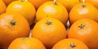 Mandarinas anaranjadas hermosas Imagenes de archivo