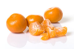 Mandarinas dulces Foto de archivo libre de regalías