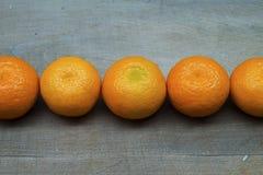 Mandarinas en línea foto de archivo
