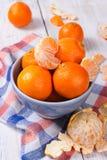 Mandarinas frescas Imágenes de archivo libres de regalías