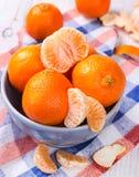 Mandarinas frescas Fotos de archivo libres de regalías