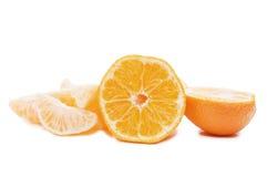 Mandarinas frescas aisladas Imágenes de archivo libres de regalías