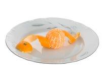 Mandarinas peladas Fotografía de archivo