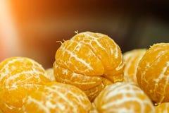 Mandarinas sin la cáscara fotografía de archivo libre de regalías