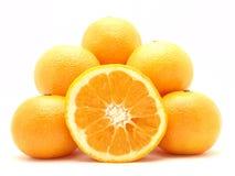 Mandarinas y naranja Imagen de archivo