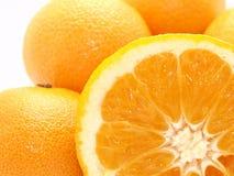 Mandarinas y naranja Fotografía de archivo libre de regalías