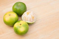 Mandarine épluchée photographie stock libre de droits