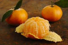 Mandarine épluchée image libre de droits