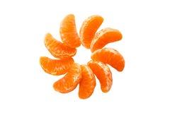 Mandarine. Isolated on white background royalty free stock images
