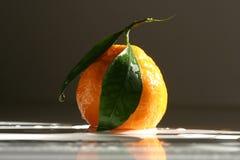 Mandarine auf der Tabelle Stockbild
