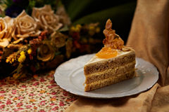 Mandarine Cake Royalty Free Stock Images