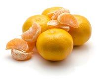 Mandarine d'isolement sur le blanc Photographie stock