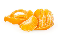 Mandarine d'isolement sur le blanc Photos stock