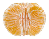 Mandarine d'isolement sur le blanc Photo stock