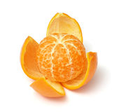 Mandarine d'isolement sur le blanc Photographie stock