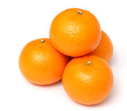 Mandarine d'isolement sur le blanc Photographie stock libre de droits
