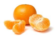 Mandarine d'isolement sur le blanc Image libre de droits
