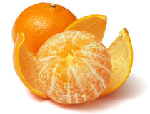 Mandarine d'isolement sur le blanc Photo libre de droits