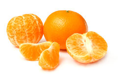 Mandarine d'isolement sur le blanc Photos libres de droits
