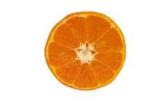 Mandarine d'isolement sur le fond blanc Images stock