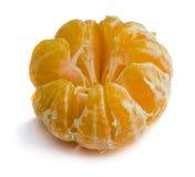 Mandarine d'isolement sur le fond blanc Image libre de droits