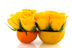 mandarine de citron image stock