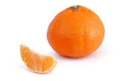Mandarine de clémentine et section simple Images libres de droits