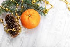Mandarine de Noël Photographie stock
