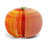 Mandarine de papier de pamplemousse de note de bâton d'isolement Image libre de droits