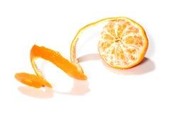 Mandarine de peau Photographie stock