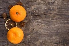 Mandarine deux Image libre de droits