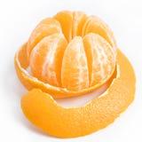 Mandarine douce mûre avec la peau épluchée Photographie stock