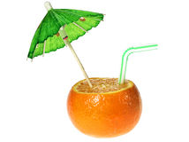 Mandarine drink Stock Images
