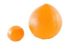 Mandarine en sinaasappel Royalty-vrije Stock Foto's